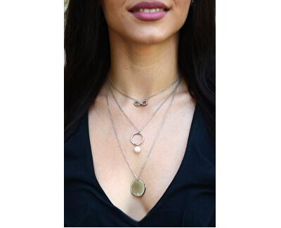 Pozlacený vrstvený náhrdelník s pravou perlou JL0421