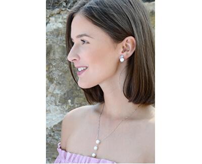 Překrásný náhrdelník se třemi perlami JL0431