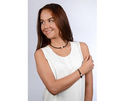 Sportovní perlový náhrdelník černý JL0345
