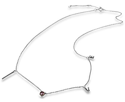 Dragoste colier din argint cu perla JL0339 autentic