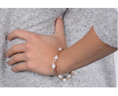 Bronzový náramek s pravými perlami JL0493