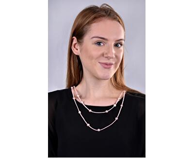 Dlouhý kožený náhrdelník 3v1 s pravými perlami JL0495