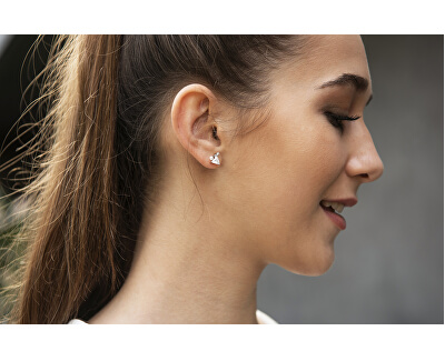 Jemné náušnice s pravou perlou a krystaly JL0586