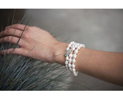 Luxusní perlový náhrdelník se zirkony JL0596