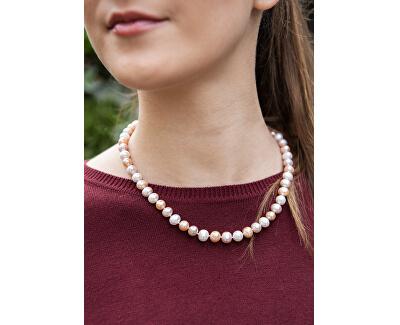 Multibarevný náhrdelník z pravých perel JL0568