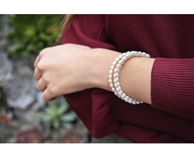 Náramek z pravých bílých perel JL0569