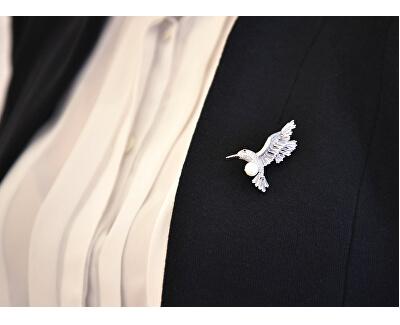 Očarujúce brošňa kolibrík s pravou perlou 2v1 JL0515
