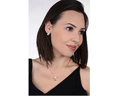 Stříbrný náhrdelník se srdíčkem a pravou perlou JL0461 (řetízek, přívěsek)