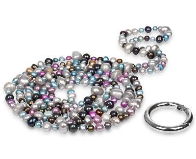 JwL Luxury Pearls Dlhý náhrdelník z pravých farebných perál JL0182