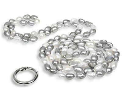 JwL Luxury Pearls Dlhý náhrdelník z pravých bielych a šedých perál JL0190