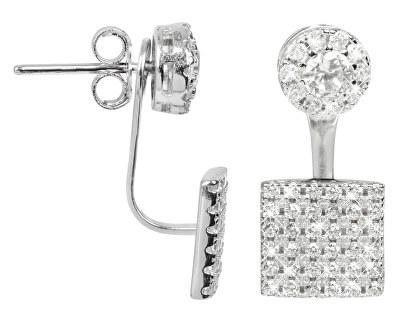 JwL Luxury Pearls Elegantné strieborné dvojnáušnice sa zirkónmi JL0198