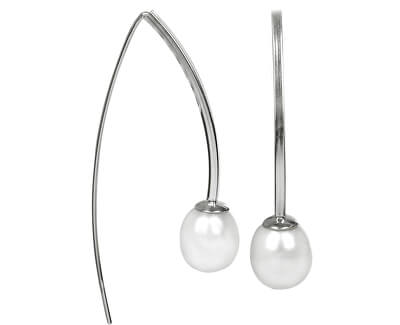 JwL Luxury Pearls Módní náušnice z pravých bílých perel JL0184