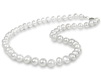 Náhrdelník s pravými bielymi perlami JL0264