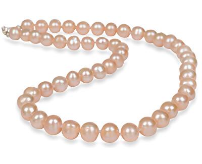 Náhrdelník s pravými lososové perlami JL0267