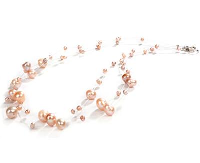 JwL Luxury Pearls Náhrdelník z levitujúich pravých perál JL0324