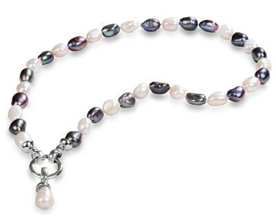 Náhrdelník z pravých perel ve dvou odstínech JL0316