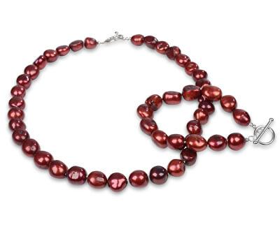 Náramek z pravých červených perel JL0566