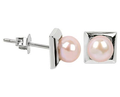 JwL Luxury Pearls Cercei din argint cu perlă reală roz JL0285