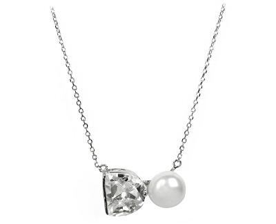 JwL Luxury Pearls Colier din argint cu perlă reală și cristal JL0261