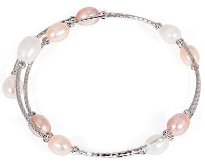 Náramek s pravými perlami JL0435
