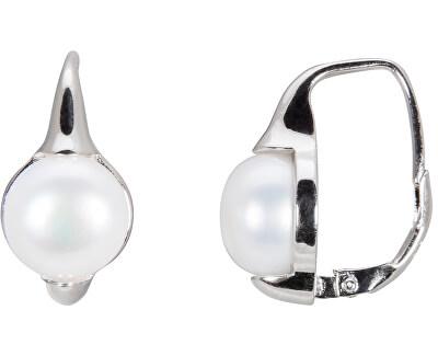 Stříbrné náušnice s pravými perlami JL0460