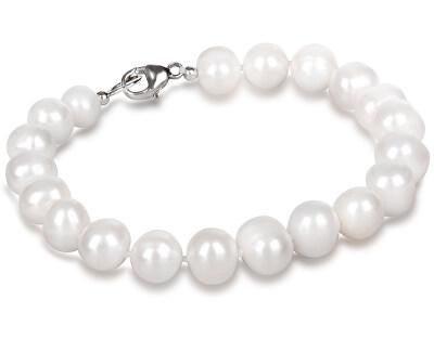 Náramek z pravých bílých perel JL0362