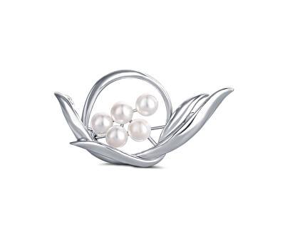Perlová brošňa 2v1 s pravými perlami JL0631