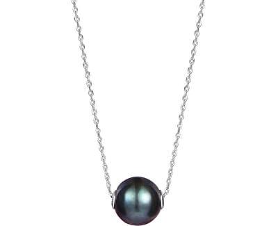 Dámský náhrdelník s pravou černou perlou JL0582 (řetízek, přívěsek)