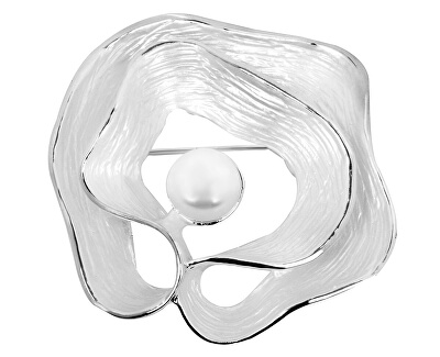 Unikátní brož Lastura 2v1 s pravou perlou JL0380