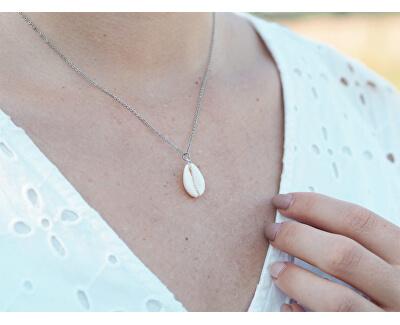 Ocelový náhrdelník s mušlí SSSN0024S20BI00
