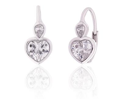 Cercei din argint pentru femei inimioare SVLE0293XI2BI00