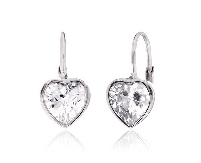 Cercei din argint pentru femei inimioare SVLE0296XI2BI00