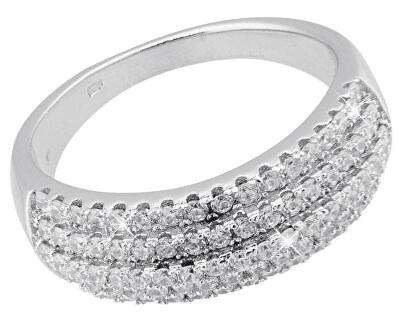 Luxusní stříbrný prsten s krystaly SVLSLR027640