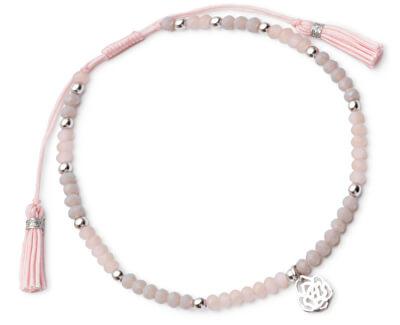 Náramek z růžových korálků Sunday Rose SVLB0045X20R200