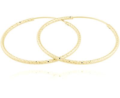 Pozlacené stříbrné náušnice kruhy SVLE0216XD5GO40