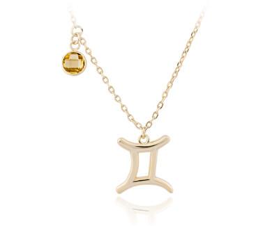 Pozlátený strieborný náhrdelník s príveskom Blíženci SVLN0135X61GOBL