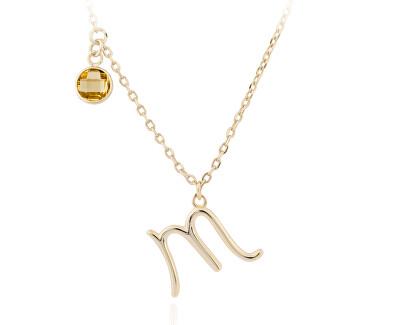 Pozlátený náhrdelník s príveskom Škorpión SVLN0135X61GOSC