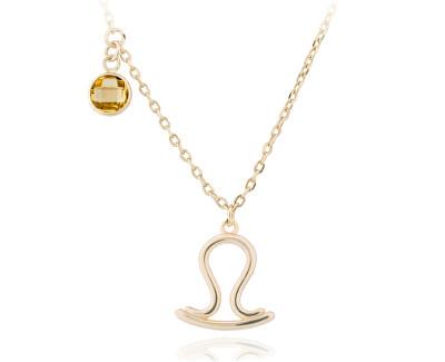 Pozlátený náhrdelník s príveskom Váhy SVLN0135X61GOVA