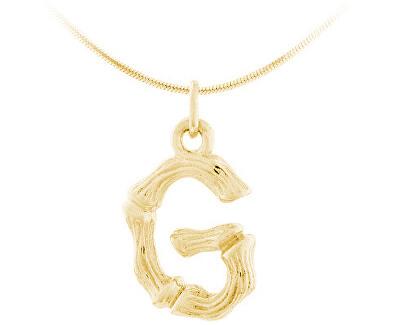 """Pozlacený stříbrný přívěsek písmeno """"G"""" SVLP0486XH2GO0G"""