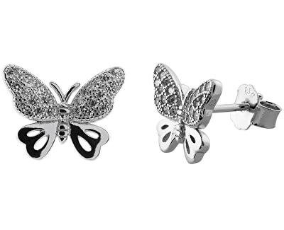 Stříbrné náušnice motýlci SVLE0481XF3BI00