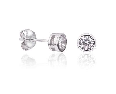 Cercei din argint cu zirconiu transparent SVLE0376XD5BI00