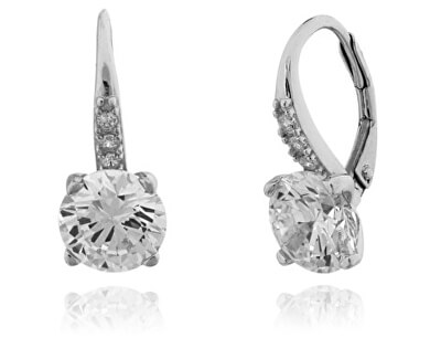 Cercei din argint cu cristale transparente 6 mm SVLE0347XF3BI00