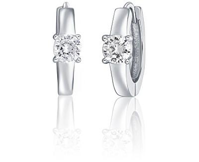 Stříbrné náušnice s krystalem SVLE0561X75BI00