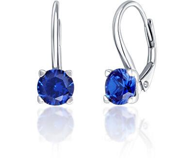 Stříbrné náušnice s modrými krystaly SVLE0503XF3M106