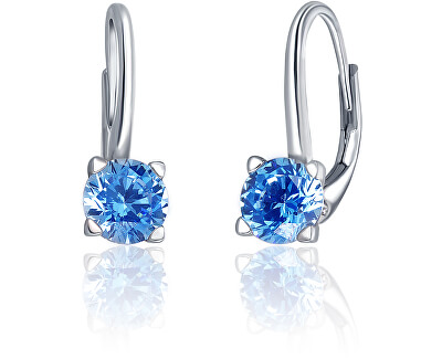 Stříbrné náušnice s modrými krystaly SVLE0503XF3M206