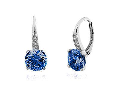Cercei din argint cu zirconiu albastru SVLE0347XF3M200