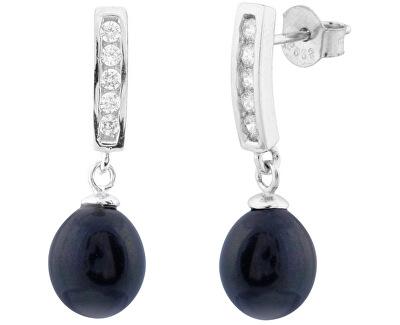 Stříbrné náušnice s pravými perlami SVLE0164SD2P500