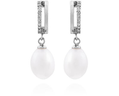 Stříbrné náušnice s pravými perlami SVLE0165SD2P100