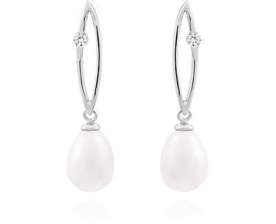 Stříbrné náušnice s pravými perlami SVLE0166SD2P100