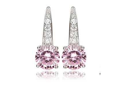 Cercei din argint cu zirconiu roz SVLE0108X61R200